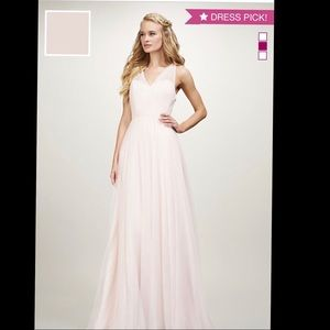 Dresses & Skirts - Tulle v-neck gown with cross back